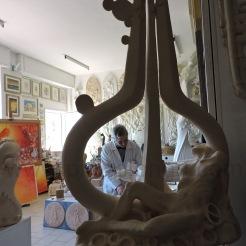 L'artista nel suo studio