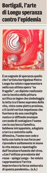 """Articolo di Sandro Biccai, """"La Nuova Sardegna"""" del 06/04/2020"""